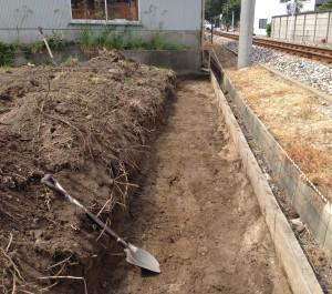 鋤取り 掘削工