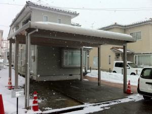 カーポートと土間コンクリート工事の経過 富山市