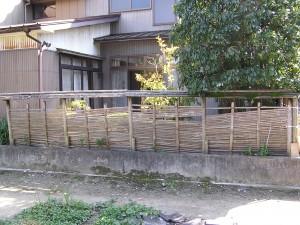 デザイン竹垣工事 富山市