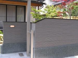 和風のこだわり塀と庭 富山市5