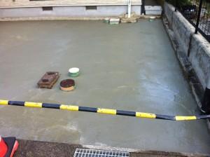 下地コンクリート打設