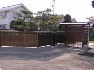 アルミ門ユニットと塀で和風らしさ 富山市