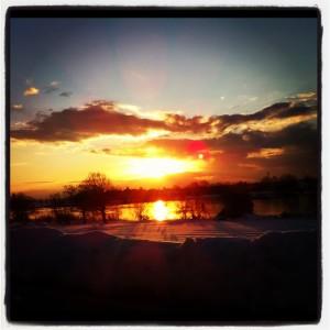 富山の夕陽